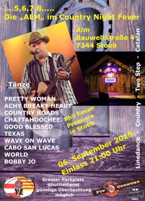 06. September 2019 Countryfest in Stoob